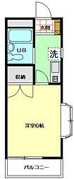 ソレイユ稲田堤[1階]の間取り