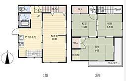 [一戸建] 神奈川県横浜市旭区さちが丘 の賃貸【/】の間取り