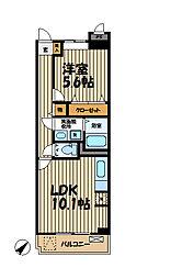 プラシード・レジデンス鎌倉[2階]の間取り