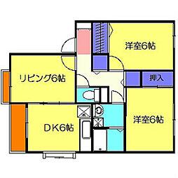コスモレーヴ東山田I[2階]の間取り