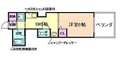 山仁サツキハイツII[2階]の間取り