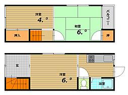 [一戸建] 兵庫県神戸市長田区駒ケ林町4丁目 の賃貸【/】の間取り
