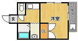 コスミック片江[301号室]の間取り