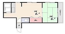 第2月見山マンション[2階]の間取り