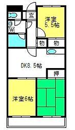 埼玉県さいたま市見沼区東大宮6丁目の賃貸マンションの間取り