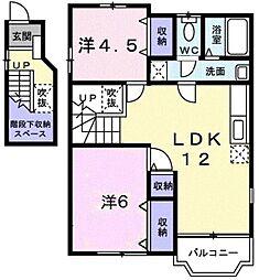 HOUSE悠遊館[202号室]の間取り