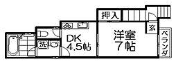 美濃マンション[2階]の間取り