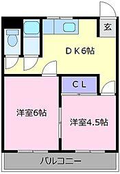 グランドソレイユ松原[2階]の間取り