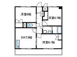神奈川県座間市座間1丁目の賃貸マンションの間取り