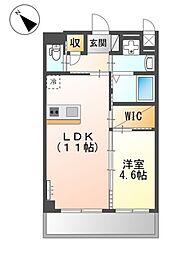 JR阪和線 三国ヶ丘駅 徒歩7分の賃貸マンション 3階1LDKの間取り