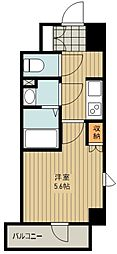 西武新宿線 新所沢駅 徒歩2分の賃貸マンション 4階1Kの間取り