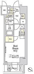 ザ・クラス南麻布 THE CLASS MINAMIAZABU 8階ワンルームの間取り