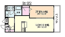大阪府大阪市福島区鷺洲5丁目の賃貸アパートの間取り