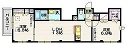(仮称)富士見台4丁目HBS計画 5階2LDKの間取り