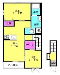 仮)明石市魚住町清水新築アパート[205号室]の間取り