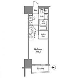 東京メトロ銀座線 上野駅 徒歩3分の賃貸マンション 13階ワンルームの間取り