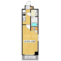 グランパークN東京[2階]の間取り