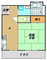 東尻池コート[1階]の間取り