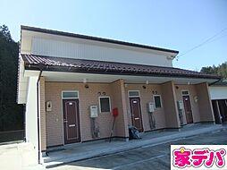 愛知県豊田市沢田町小原道の賃貸アパートの外観