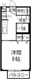 愛知県小牧市小木2丁目の賃貸アパートの間取り