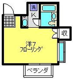 ハイツBUNMEI[2階]の間取り
