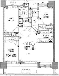 フェスティオ和白パームガーデン[3階]の間取り