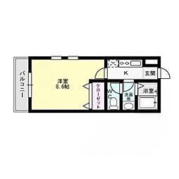 福岡県福岡市早良区祖原の賃貸アパートの間取り