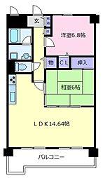 メゾン・ポレール[3階]の間取り