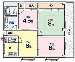 エクセレンス星田[3階]の間取り