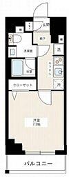 京成本線 千住大橋駅 徒歩3分の賃貸マンション 3階1Kの間取り