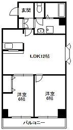 第35松井ビル[201号室]の間取り