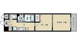 アミスタ菅原[6階]の間取り