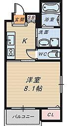 大阪府堺市堺区七道西町の賃貸マンションの間取り