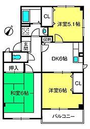 埼玉県さいたま市北区本郷町の賃貸マンションの間取り