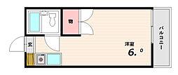 サンビレッジ板宿[3階]の間取り