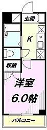 東京都八王子市万町の賃貸マンションの間取り