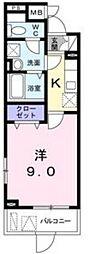 JR東海道・山陽本線 摂津富田駅 徒歩10分の賃貸マンション 1階1Kの間取り