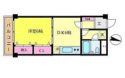 東京都杉並区井草5丁目の賃貸マンションの間取り