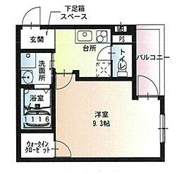 JR阪和線 堺市駅 徒歩5分の賃貸アパート 3階1Kの間取り