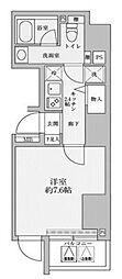 東京メトロ千代田線 赤坂駅 徒歩2分の賃貸マンション 10階1Kの間取り