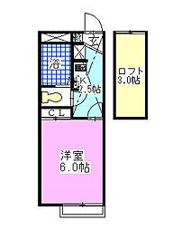 レオパレスK・Sアグリ壱番館[211号室]の間取り
