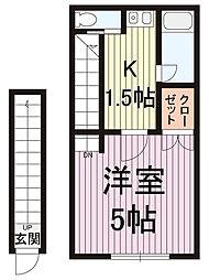 メゾン・ドKT[2階]の間取り