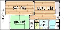 KRマンションA[1号室]の間取り