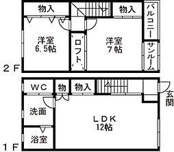 [テラスハウス] 富山県富山市向新庄 の賃貸【富山県 / 富山市】の間取り