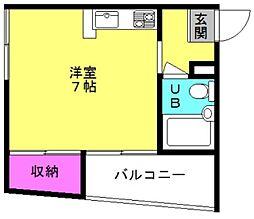 プレアール粟津3[4階]の間取り