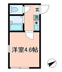 東京都練馬区関町南1の賃貸アパートの間取り
