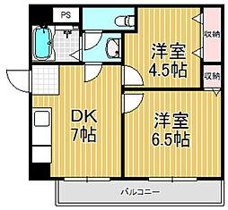 サンライフ小阪[6階]の間取り