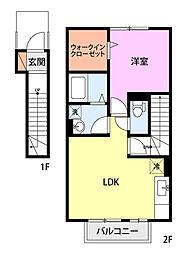 Lily−be安江(2F)[2階]の間取り