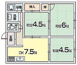 コーエイハイツA棟[2階]の間取り