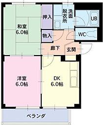 愛知県知立市牛田町コネハサマの賃貸アパートの間取り